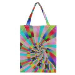 Irritation Funny Crazy Stripes Spiral Classic Tote Bag by designworld65