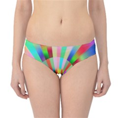 Irritation Funny Crazy Stripes Spiral Hipster Bikini Bottoms