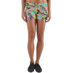 Irritation Funny Crazy Stripes Spiral Yoga Shorts by designworld65