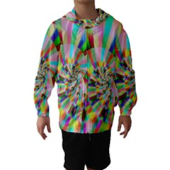 Irritation Funny Crazy Stripes Spiral Hooded Wind Breaker (kids)