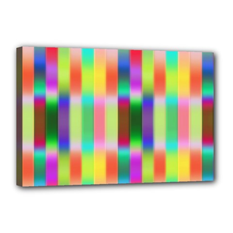 Multicolored Irritation Stripes Canvas 18  X 12  by designworld65