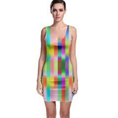 Multicolored Irritation Stripes Bodycon Dress