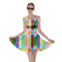 Multicolored Irritation Stripes Skater Dress