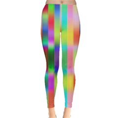 Multicolored Irritation Stripes Leggings