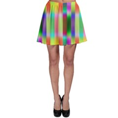 Multicolored Irritation Stripes Skater Skirt by designworld65