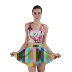 Multicolored Irritation Stripes Mini Skirt