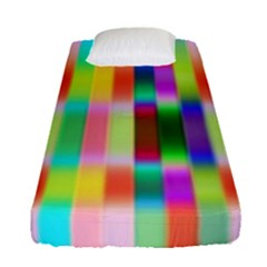 Multicolored Irritation Stripes Fitted Sheet (single Size)