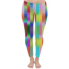 Multicolored Irritation Stripes Classic Winter Leggings by designworld65