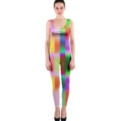 Multicolored Irritation Stripes Onepiece Catsuit