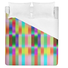 Multicolored Irritation Stripes Duvet Cover (queen Size)