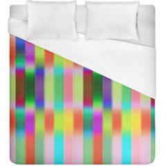Multicolored Irritation Stripes Duvet Cover (king Size) by designworld65