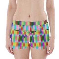 Multicolored Irritation Stripes Boyleg Bikini Wrap Bottoms