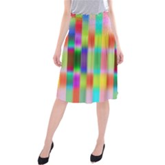 Multicolored Irritation Stripes Midi Beach Skirt