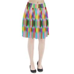 Multicolored Irritation Stripes Pleated Skirt by designworld65