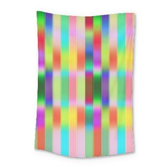 Multicolored Irritation Stripes Small Tapestry by designworld65