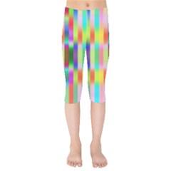 Multicolored Irritation Stripes Kids  Capri Leggings  by designworld65