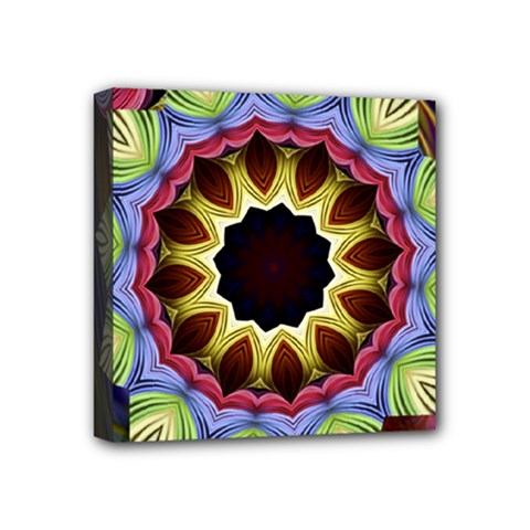 Love Energy Mandala Mini Canvas 4  X 4  by designworld65