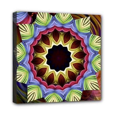 Love Energy Mandala Mini Canvas 8  X 8