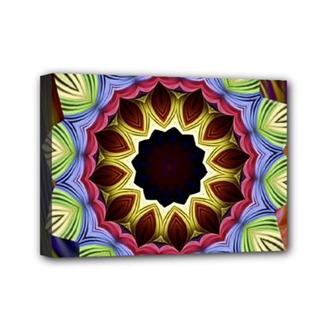 Love Energy Mandala Mini Canvas 7  X 5