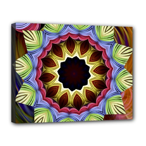 Love Energy Mandala Canvas 14  X 11