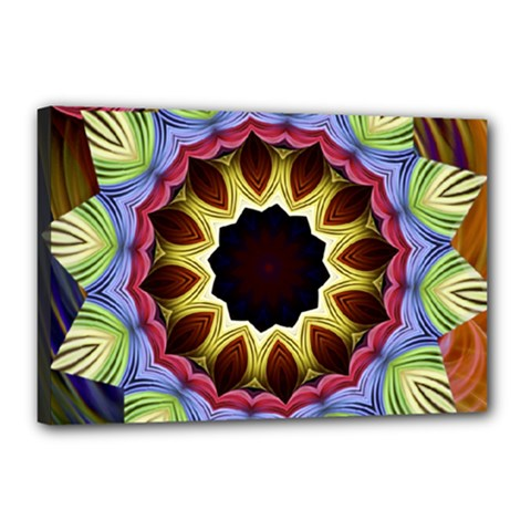Love Energy Mandala Canvas 18  X 12