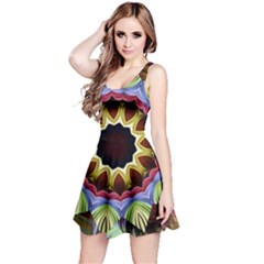 Love Energy Mandala Reversible Sleeveless Dress by designworld65