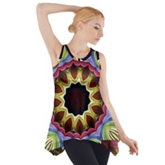 Love Energy Mandala Side Drop Tank Tunic