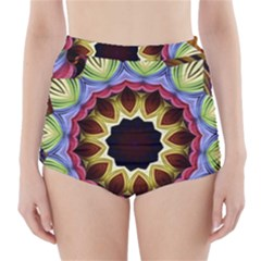 Love Energy Mandala High Waisted Bikini Bottoms