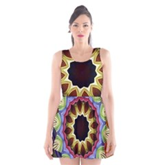 Love Energy Mandala Scoop Neck Skater Dress