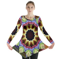 Love Energy Mandala Long Sleeve Tunic