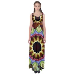 Love Energy Mandala Empire Waist Maxi Dress