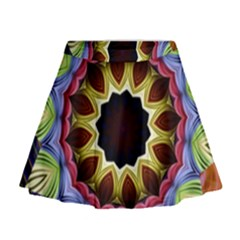 Love Energy Mandala Mini Flare Skirt