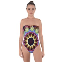 Love Energy Mandala Tie Back One Piece Swimsuit