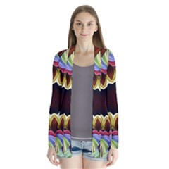 Love Energy Mandala Drape Collar Cardigan by designworld65