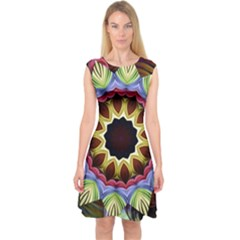 Love Energy Mandala Capsleeve Midi Dress