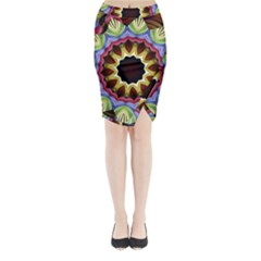Love Energy Mandala Midi Wrap Pencil Skirt