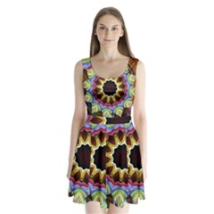 Love Energy Mandala Split Back Mini Dress