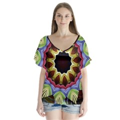 Love Energy Mandala Flutter Sleeve Top