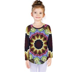 Love Energy Mandala Kids  Long Sleeve Tee