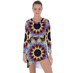 Love Energy Mandala Asymmetric Cut Out Shift Dress