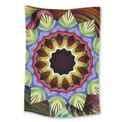 Love Energy Mandala Large Tapestry