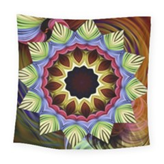 Love Energy Mandala Square Tapestry (large)