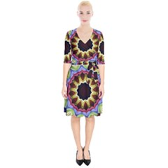 Love Energy Mandala Wrap Up Cocktail Dress
