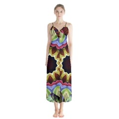 Love Energy Mandala Button Up Chiffon Maxi Dress