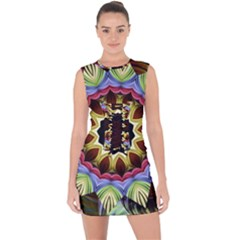 Love Energy Mandala Lace Up Front Bodycon Dress
