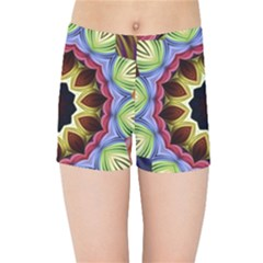 Love Energy Mandala Kids Sports Shorts