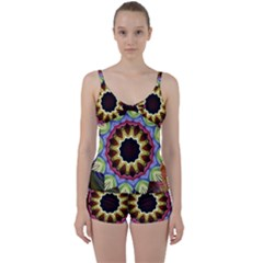Love Energy Mandala Tie Front Two Piece Tankini