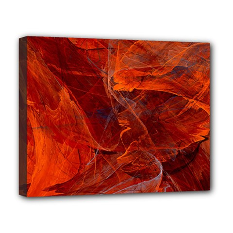 Swirly Love In Deep Red Deluxe Canvas 20  X 16
