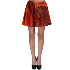 Swirly Love In Deep Red Skater Skirt by designworld65