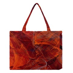 Swirly Love In Deep Red Medium Tote Bag